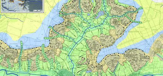Carte géomorphologique du bassin versant du Brunet.
