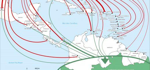 Figure 4. L'espace caraïbe entre Amérique du Nord et Amérique du Sud.