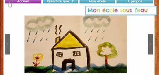 Figure 1. Interface de la page d'accueil de Mon école sous l'eau.