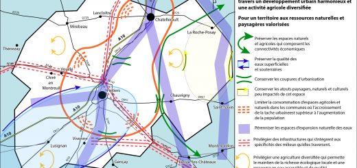 Figure 6. Carte schématique des enjeux environnementaux.