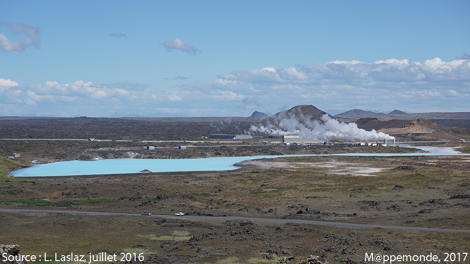Photo 4. Reykjanes Power station ou Power Plant Earth, sur la péninsule de Reykjanes, sud-ouest de l'Islande. © L. Laslaz, juillet 2016.