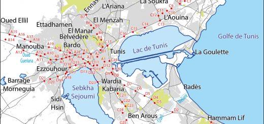 Figure 2. Localisation des points de mesures itinérantes.