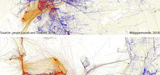 Figure 4. Comparaison des mobilités touristiques à New York et à San Francisco (source : projet Locals and Tourists, 2010).