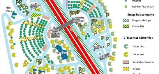 Figure 5. Traitement végétal des deux principales aires de service sur la section Beaune-Lyon concédée à APRR.